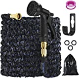25ft Expandable Garden Hose,Water Hose Pipe with 8 Function Hose Nozzle, Garden Hose Holder and Durable Latex Anti-Proof…