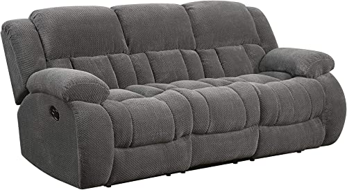 Coaster Home Furnishings Weissman Pillow Padded Motion Sofa Charcoal Review