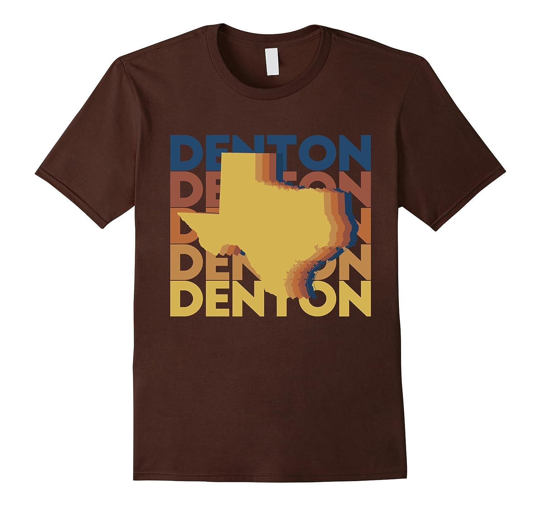 Denton Texas T Shirt Vintage TX Repeat Design-FL