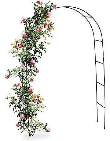 Treillis en Fer forg/é Support en Fleur pour vignes grimpantes ART TO REAL Ob/élisque de Jardin en Treillis pour Plantes grimpantes rosiers et Plantes Grande Tour en Acier Vert pour ext/érieur