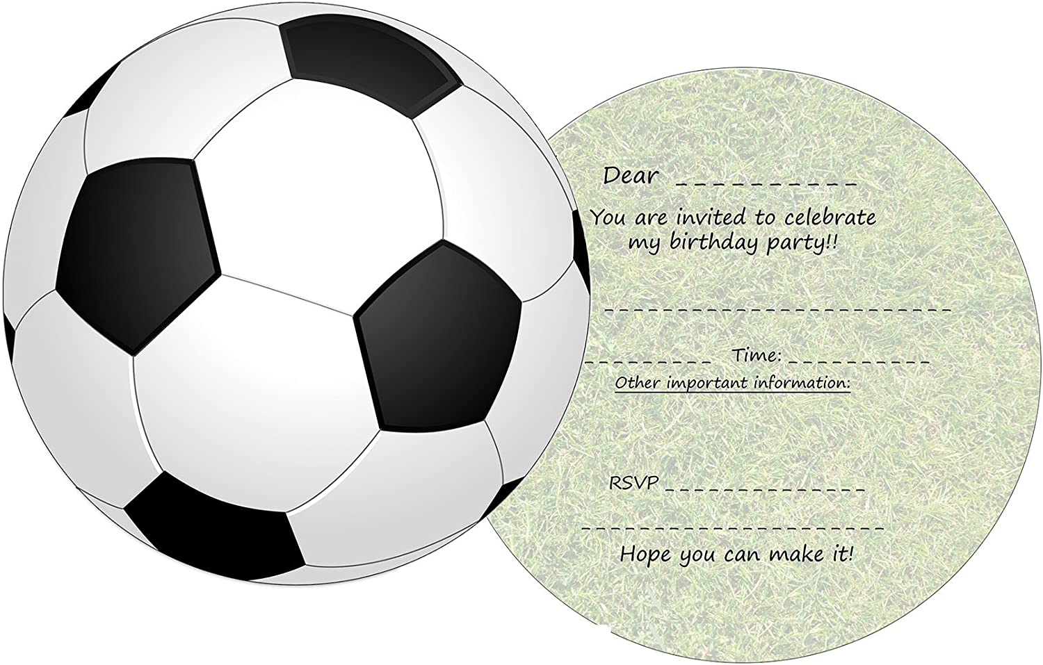 SPORTS 3D Soccer INVITATIONS ~ Birthday Party Supplies Stationery Cards Note 8