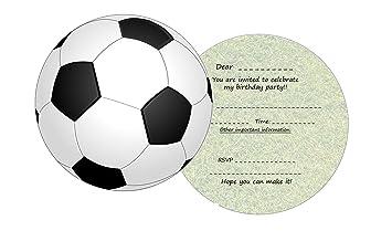 the lazy panda card company 11 Round Football Invites for Kids