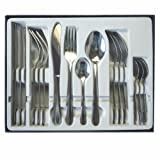 Cutlery Set Stainless Steel 16, 24, 40 Piece Including Knife, Forks, Spoons & Tea Spoons Extra Value Student Living Place Settings (16 Pieces)