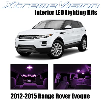 Xtremevision Interior LED for Land Rover Range Rover Evoque SUV 2012-2015 (9 Pieces) Pink Interior LED Kit + Installation Tool: Automotive