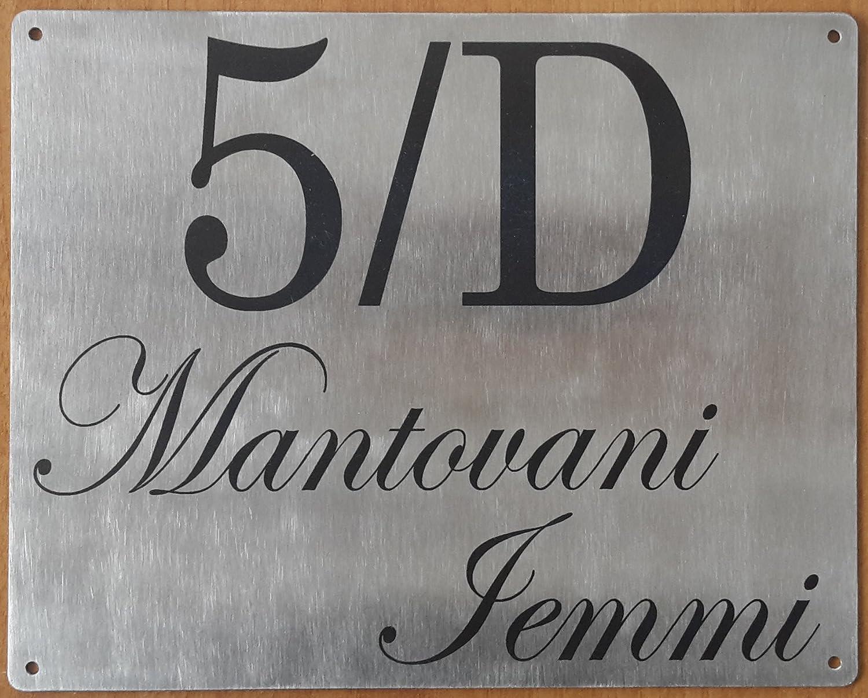 Mosaici Guizzo Targhetta in Acciaio inciso_20x16 cm