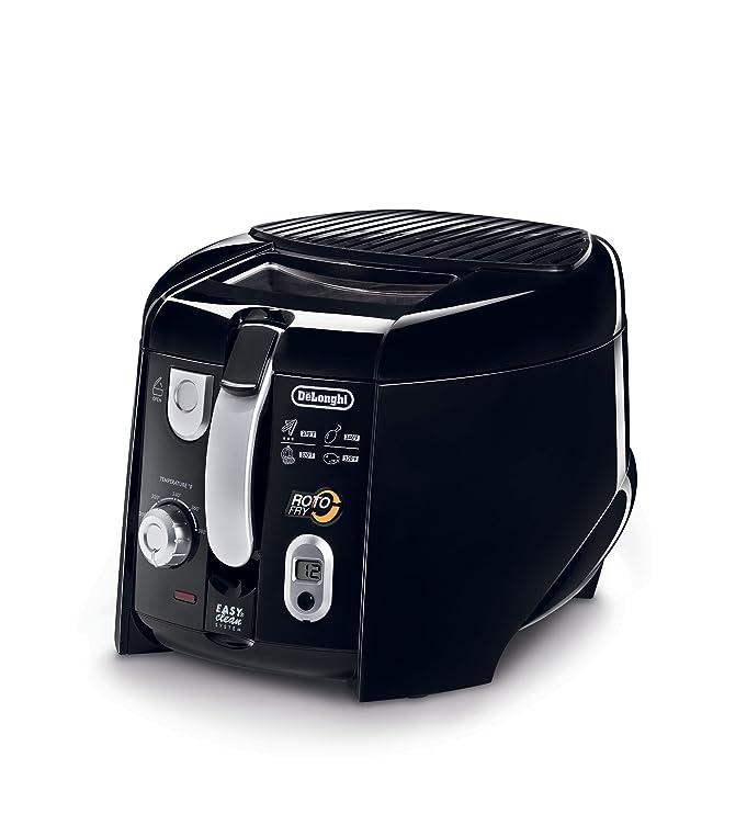 Amazon.com: DeLonghi D28313UXBK Roto Deep Fryer, Black/Silver ...