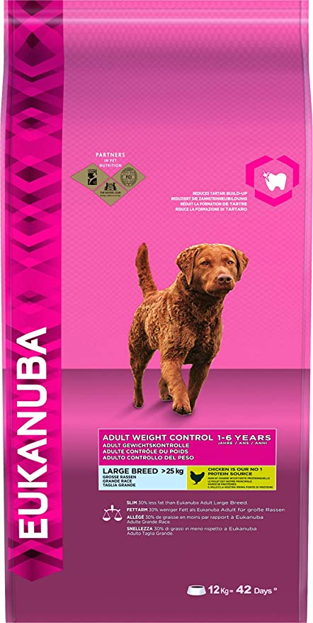 EUKANUBA Adult Light Razas Grandes, 12 kg