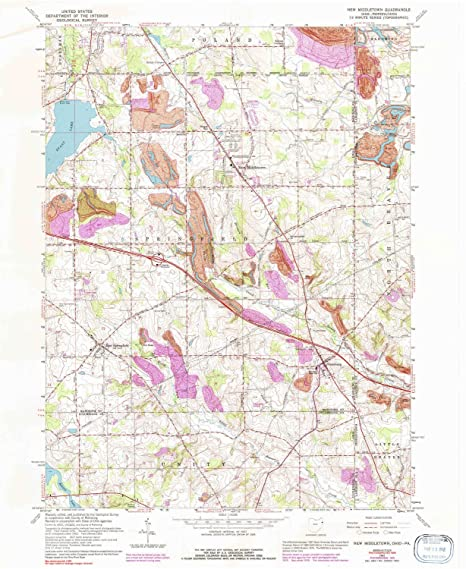 Amazon Com Yellowmaps New Middletown Oh Topo Map 1 24000 Scale