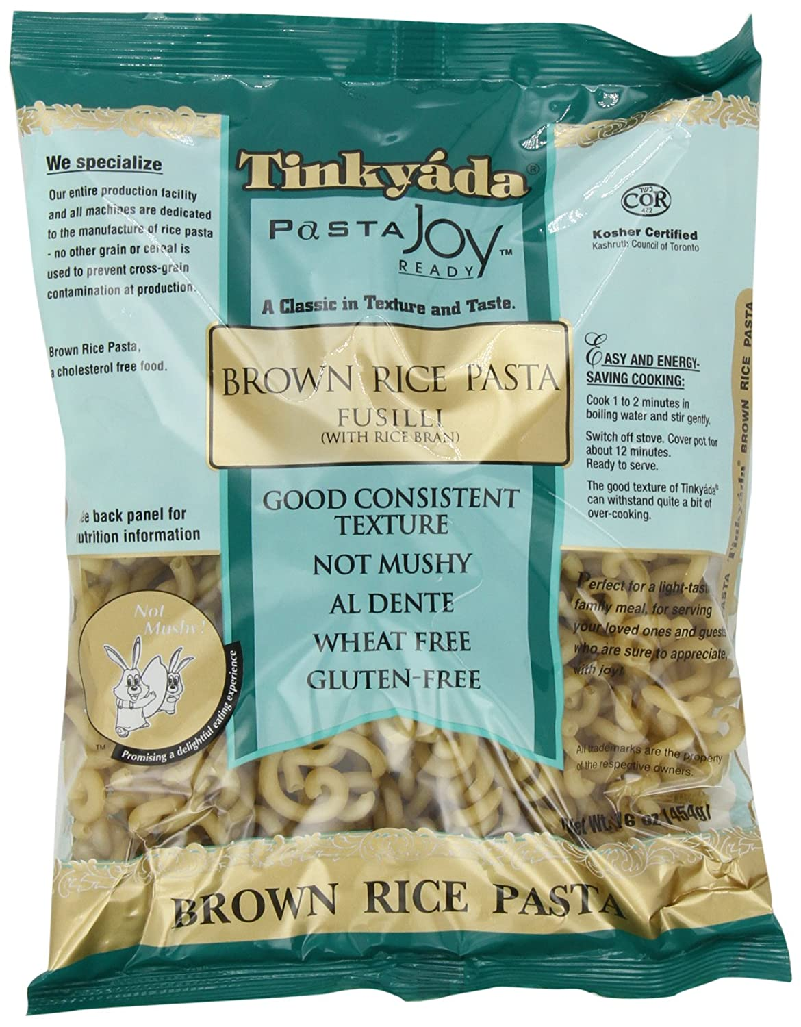 Amazon.com : Tinkyada Brown Rice Pasta, Fusilli, 16 Ounce (Pack of ...