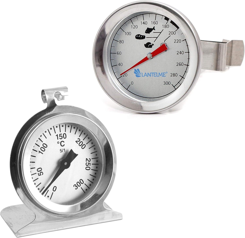 Lantelme 7445 Acero Inoxidable freidoras Termómetro y horno Set – Utensilios de cocina Termómetro analógico: Amazon.es: Hogar