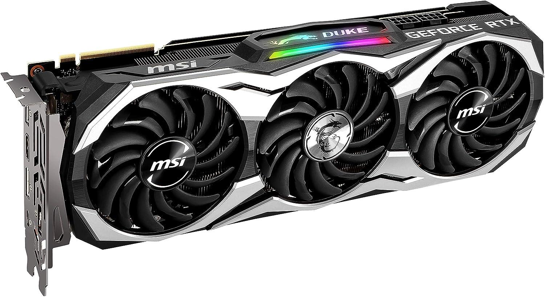Tarjeta gr/áfica Enthusiast MSI GeForce RTX 2080 Ti GAMING X TRIO PCI-E 3.0, RGB Mystic Light, 11 GB GDDR6, 352-bit, 7000 Mhz Memory Clock Speed, 4352 Core Units, MSI Afterburner