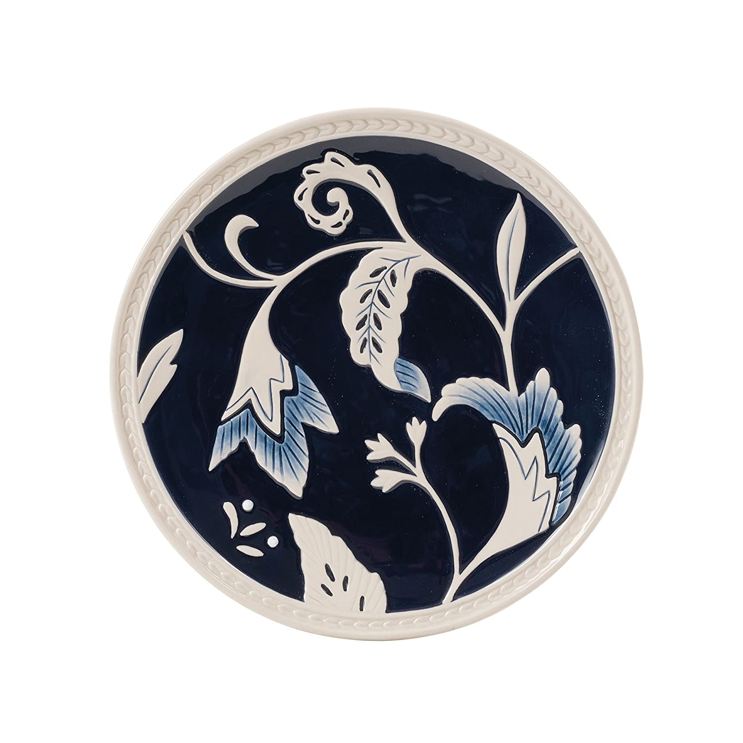 amazon com bristol collection indigo floral salad plate royal