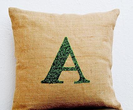 Amazon Handmade Amore Beaute Initial Pillow Covers Inspiration Initial Pillow Covers