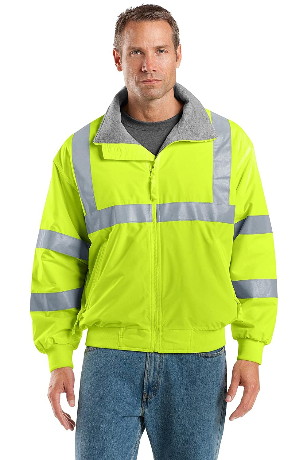 Port Authority OUTERWEAR メンズ B00MFQQAOW 4L|Safety Yellow/ Reflective Safety Yellow/ Reflective 4L