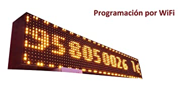 Cartel LED programable por WiFi / Letrero programable / Pantalla programable / Pantalla de texto con