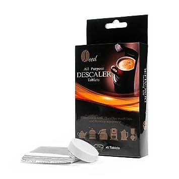 Pastillas antical para máquinas de café (6 tabletas/6 usos) – Descalcificador quitamanchas