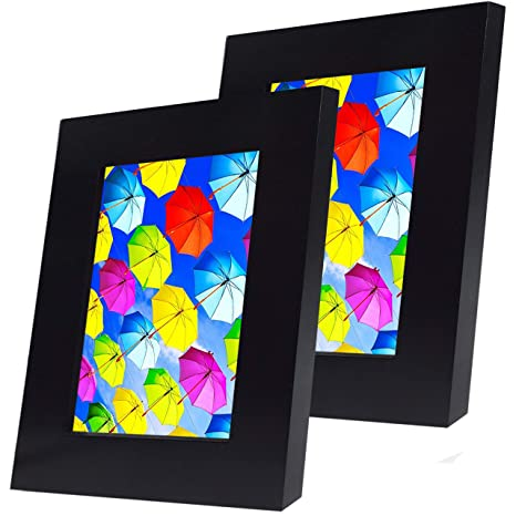 Amazoncom Spoiledhippo 4x6 Picture Frame Black 2 Pack Wood
