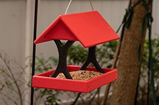 product image for DutchCrafters Poly Fly-Thru Bird Feeder Made in America (Hanging, Red & Black)