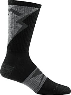 product image for Darn Tough 1792 Men's Merino Wool BA Barney Crew Ultra-Light Socks, Gray, Medium (8-9.5)