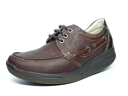 db401ae4b85 Zapatos hombre FLUCHOS - Tipo Nautico  quot Balancín quot  en Nobuk color  Marrón con cordones