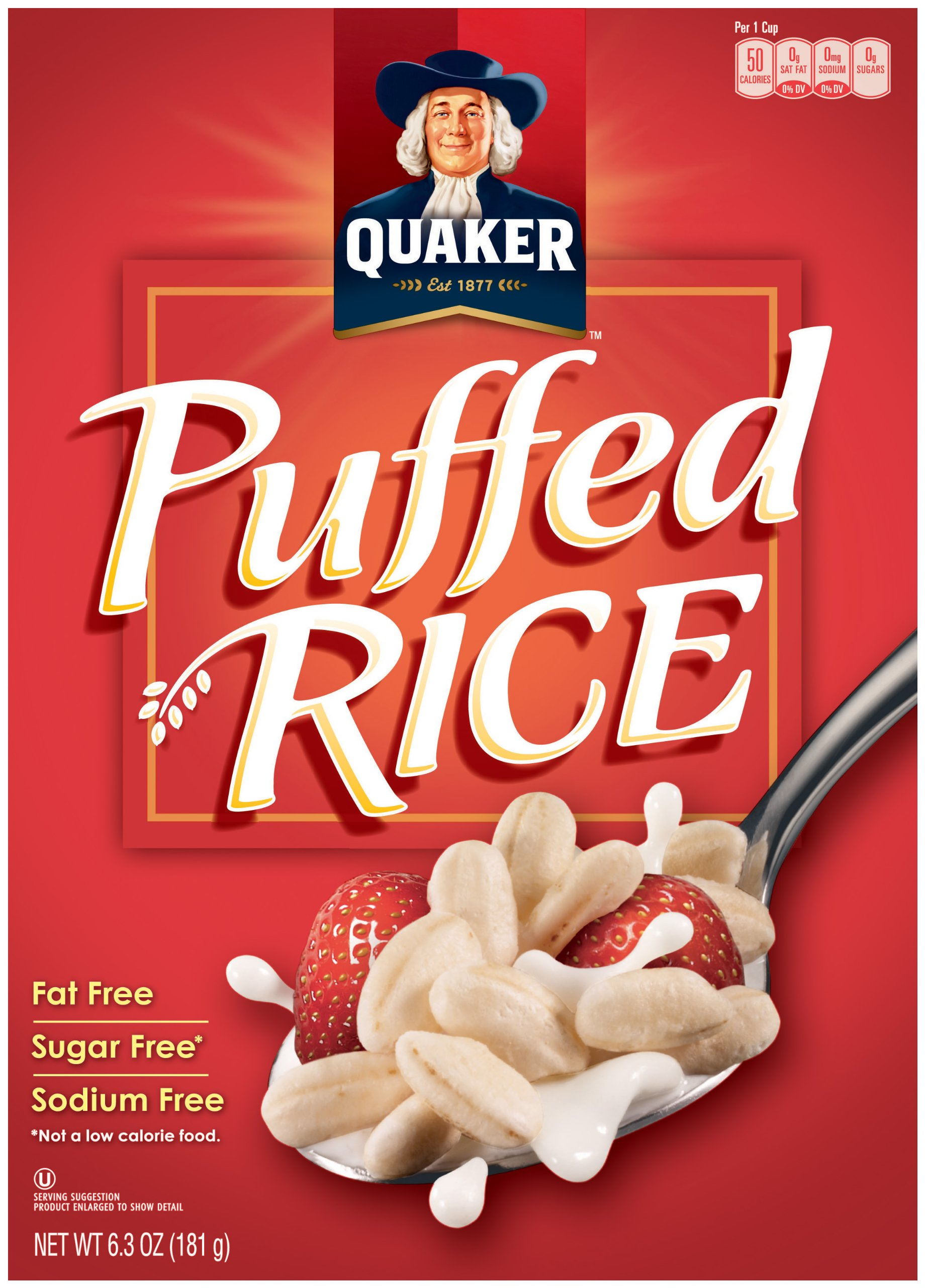 Quaker Essential Puffed Rice Cereal, 6.3oz Boxes (Pack of 10 Boxes)