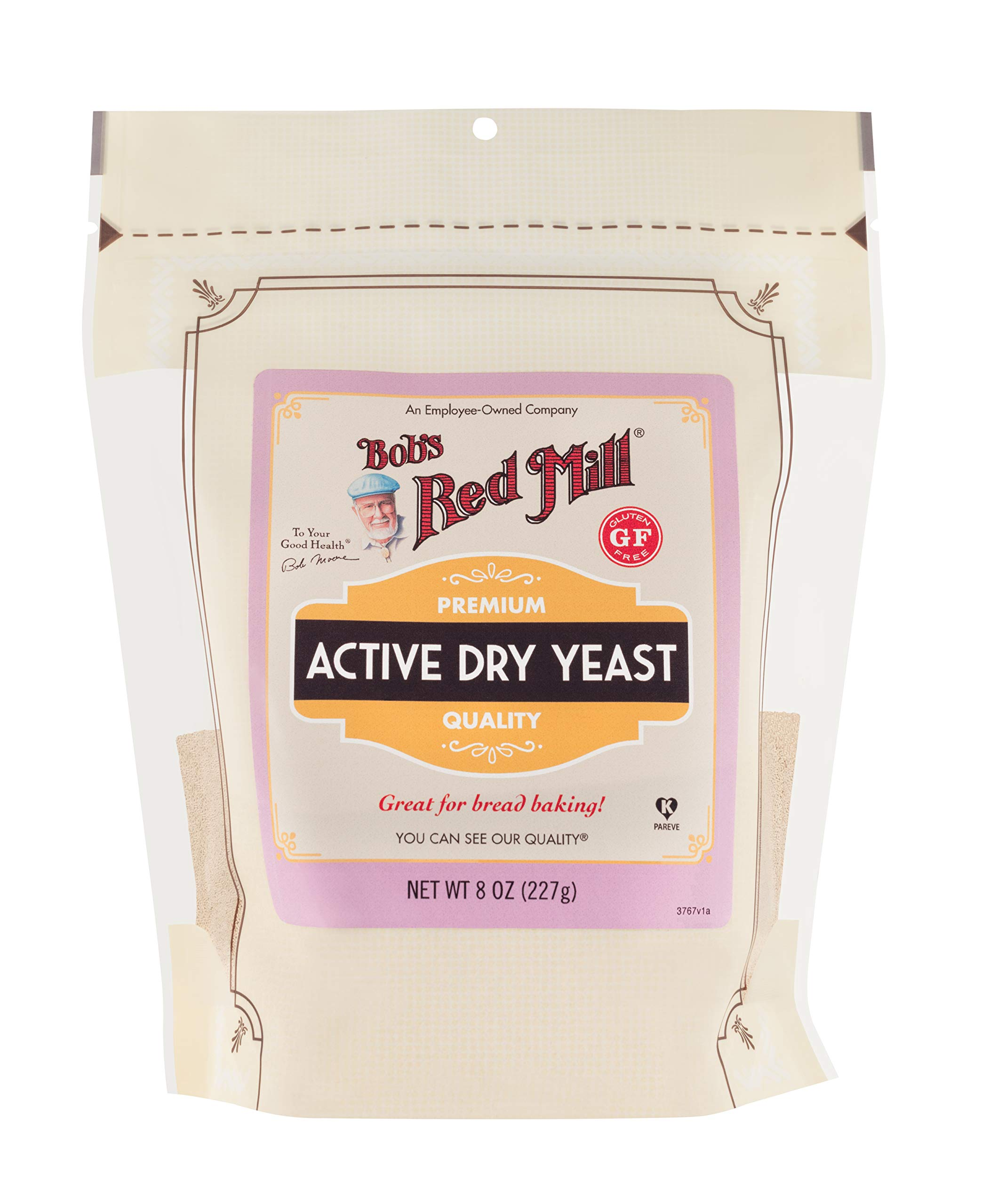 Bob's Red Mill Active Dry Yeast, 8 oz Packages (Pack of 6)