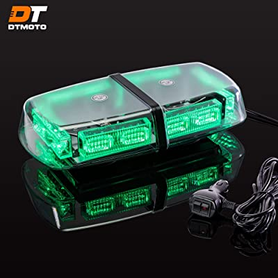 "12"" 36W Green LED Emergency Flashing Mini Light Bar - Waterproof Magnetic Roof Top Mount Strobe Warning Lights for Hazard Snow Plow Emergency Vehicle Truck: Automotive"