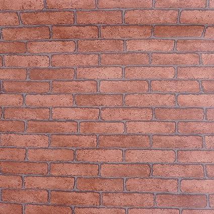 Amazon.com: Peel and Stick Red Brick Pattern 23.8x195\