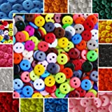 120 kleine bunte Knöpfe - 9mm - Farbmix - Kinderknöpfe - Puppenknöpfe - Scrapbooking