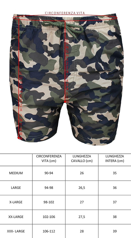 ae13762582 AK collezioni Costume Mare Uomo Mimetico Verde Militare Pantaloncino Boxer  Slim Fit Shorts Pantalone Bermuda: Amazon.it: Abbigliamento