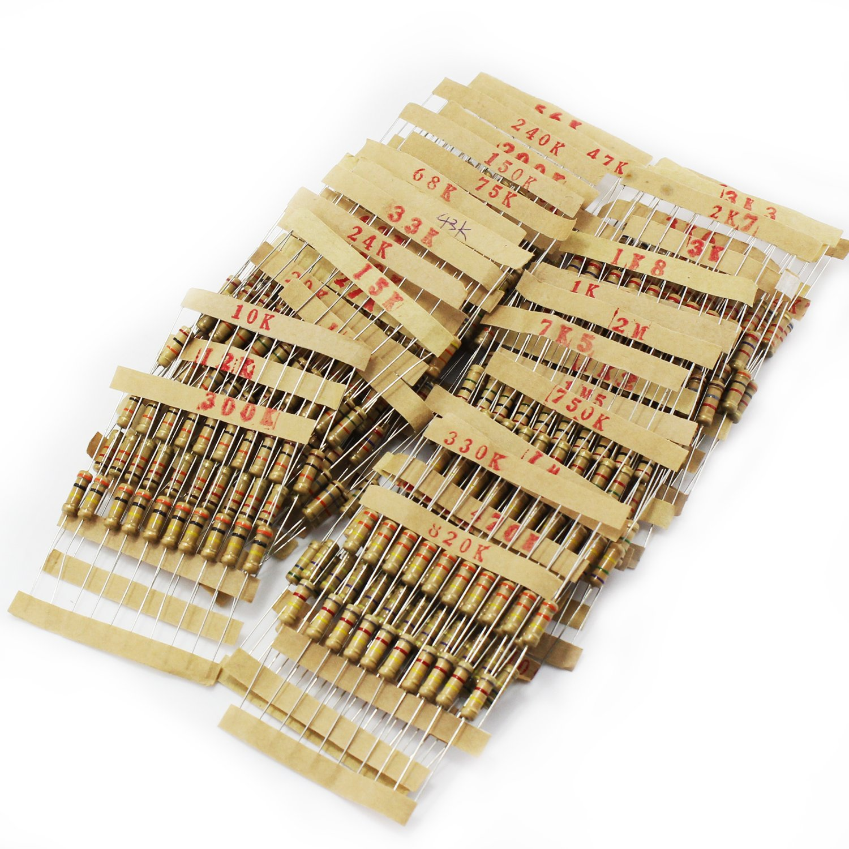 OCR Metal Film Resistor Assortment Kit (48Value 480PCS)