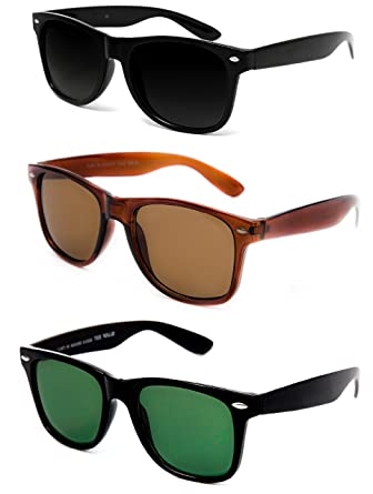 0b42a9ecac42 TheWhoop Super Combo UV Protected New Black, Brown And Green Wayfarer  Sunglasses For Men, Women, Girls, Boys: Amazon.in: Clothing & Accessories