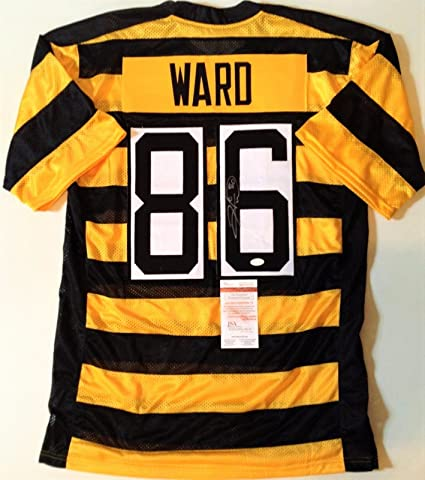 36af1680610 Image Unavailable. Image not available for. Color: HINES WARD SIGNED  AUTOGRAPHED BUMBLE BEE THROWBACK JERSEY JSA COA STEELERS FOOTBALL