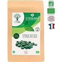 Spiruline bio | 300 comprimés | Complément alimentaire | Superaliment | Energie - Sport BCAA | Bioptimal - nutrition naturelle | Conditionnée, Contrôlée et Analysée en France | Certification Ecocert