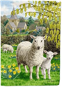 Caroline's Treasures ASA2024GF Sheep Flag Garden Size, Small, Multicolor