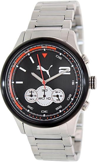 705c7b9e7668 Amazon.com  Puma Wheel Chrono - L Metal Black Men s watch ...