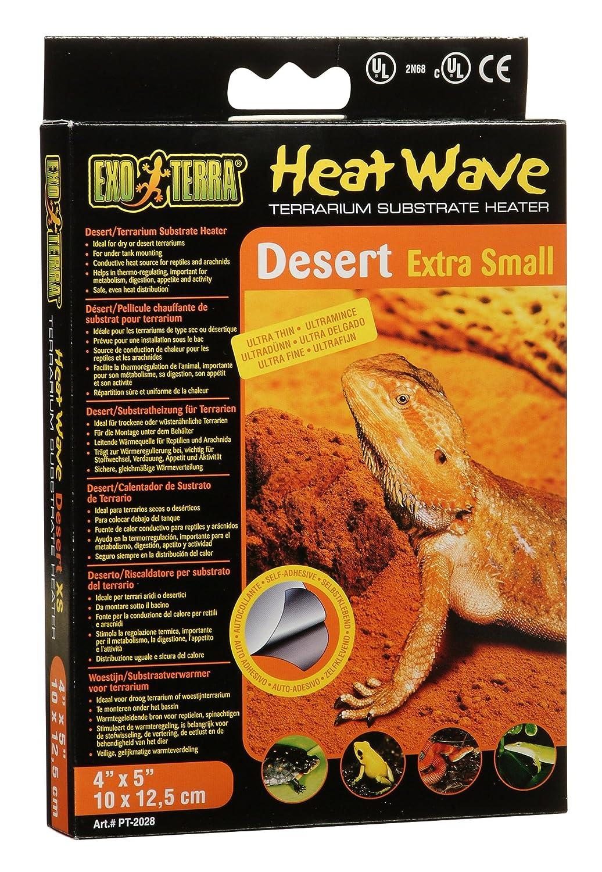 Exoterra Plaque Chauffante Heatwave pour Reptiles et Amphibiens 4 W PT2028
