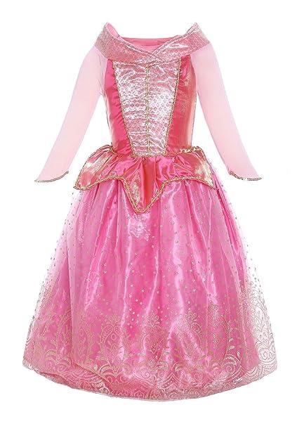 Katara 1709 - Disfraz de Princesa Aurora La Bella Durmiente Vestido de Carnaval Cumpleaños - Niñas 2-3 Años, Color Rosa