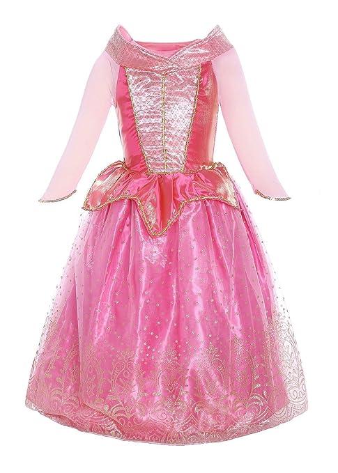 premium selection 13c9f eac62 Katara 1709 Costume Vestito Principessa Aurora La Bella Addormentata Disney  Carnevale Halloween Bambine 7-8 anni