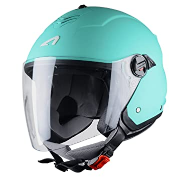 Astone Helmets Mini Jet, Casco Jet, color Vert DEau, ...