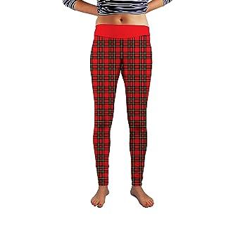 9f3ba4391d27d Red Tartan Design Womens Spandex Funky Leggings Gym Yoga Fashion Made In Uk  (medium)
