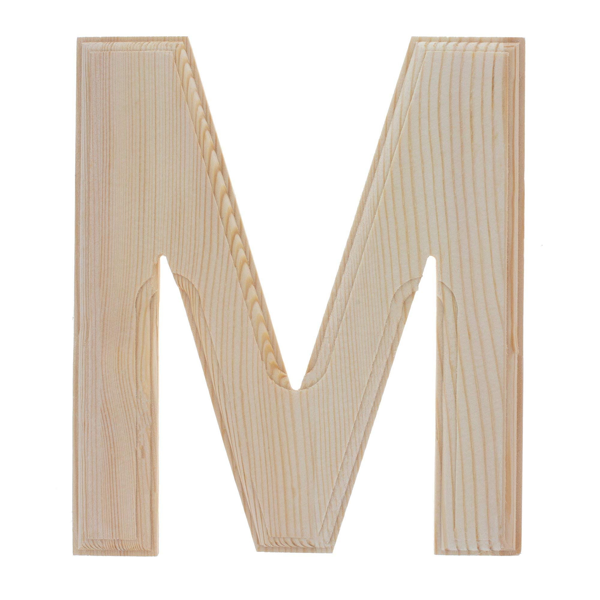BestPysanky Unfinished Wooden Letter M (6.25 Inches)