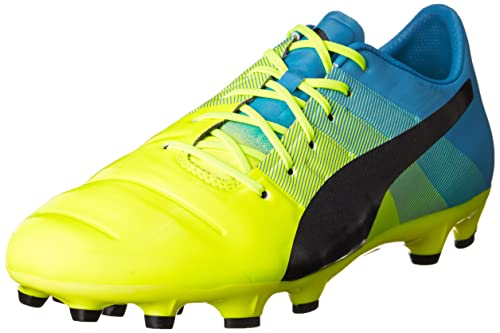 PumaevoPOWER 1.3 AG - Zapatillas de Fútbol Entrenamiento Hombre, Color Amarillo, Talla 40.5