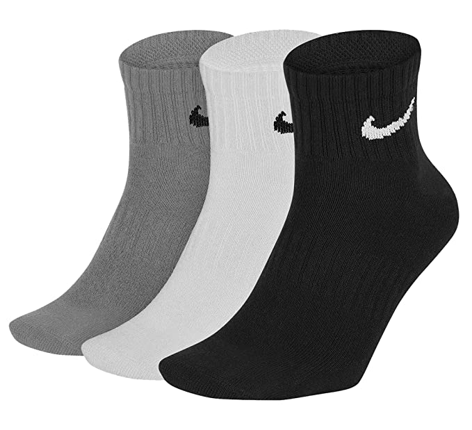 Nike Everyday Lightweight Ankle Training Socks (3 Pair ...