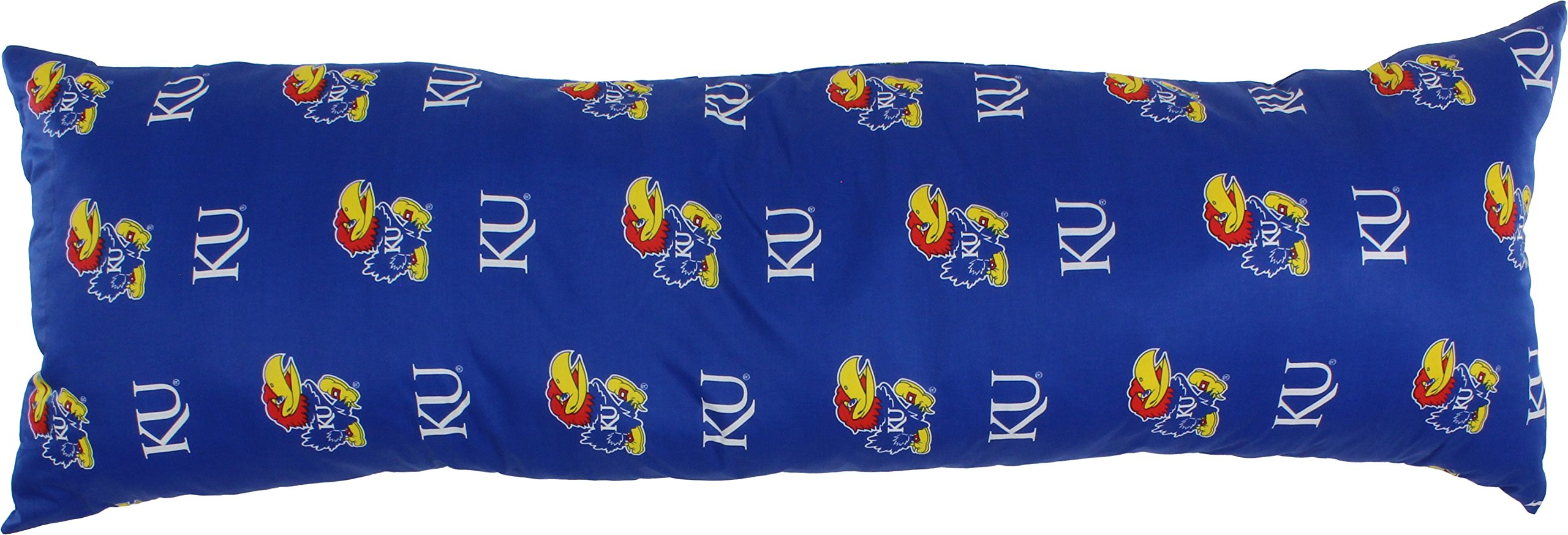 College Covers Kansas Jayhawks Printed Body Pillow, 20'' x 60''