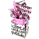 Hallmark Signature Small Mother's Day Gift Bag with Tissue Paper (Black and White, 5.5 by 5.5 by 2.97 Inches)