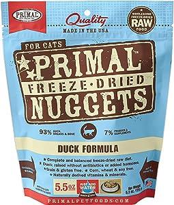 Primal Freeze Dried Cat Food - Duck Formula - 5.5 Oz.