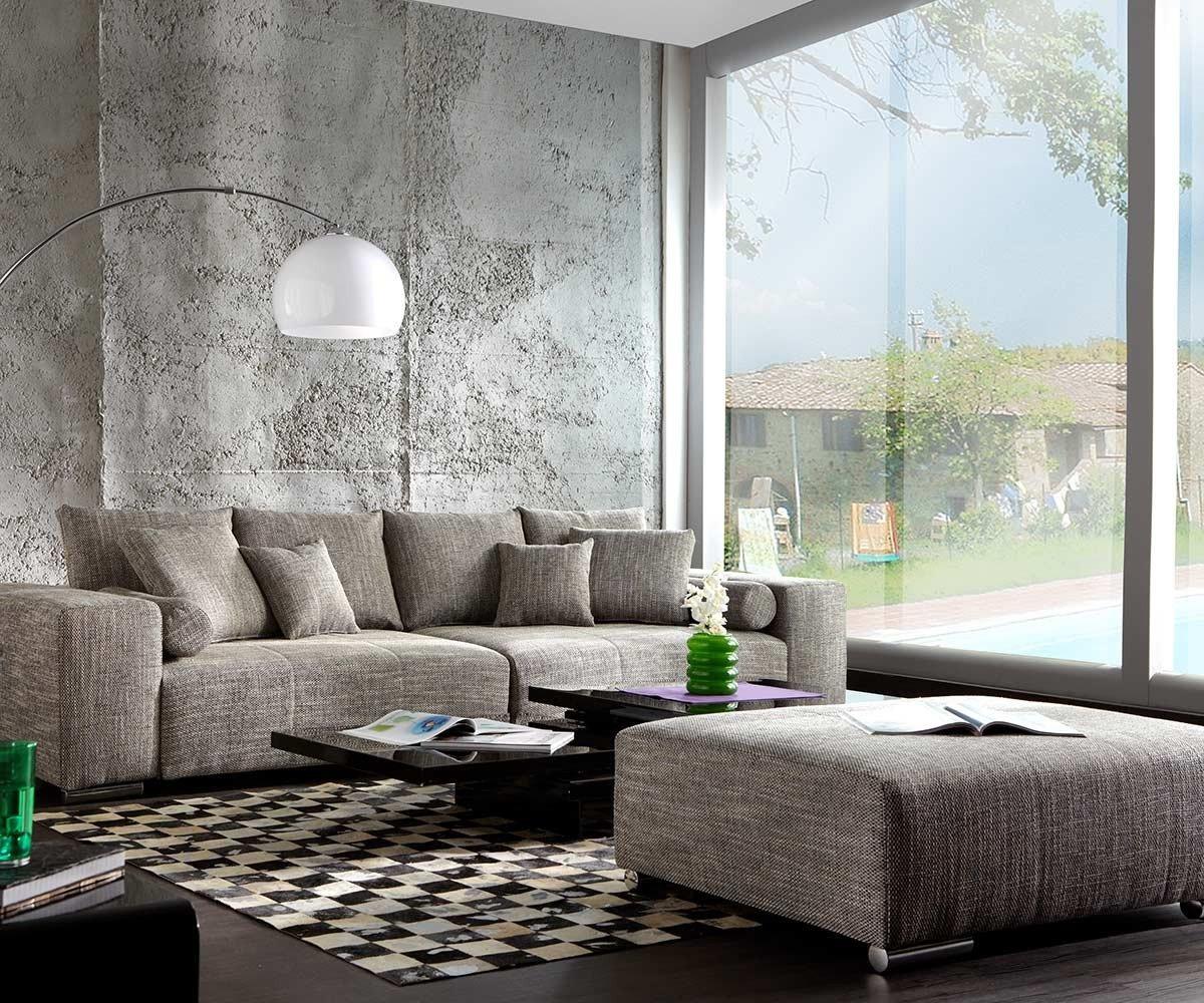 Xxl Couch Marbeya Hellgrau 280x115 Inklusive Hocker Big Sofa Online