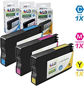 LD Remanufactured Ink Cartridge Replacement for HP 951XL High Yield (1 Cyan, 1 Magenta, 1 Yellow, 3-Pack)