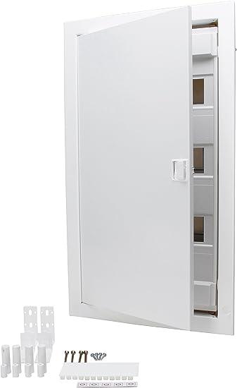 Kopp – Caja de distribución para empotrar en Paredes Huecas, con Puerta de Metal, de 3 Filas para 36 Polos, 1 Pieza, Color Blanco, 340513002: Amazon.es: Bricolaje y herramientas